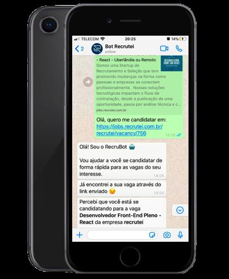 chatbot recrutamento